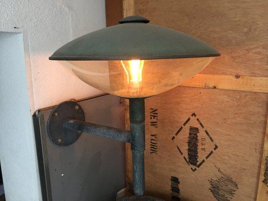 Meso applique d extérieur hublot lampe ovale en laiton applique