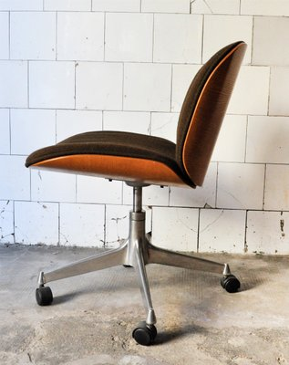Mid Century Office Chairs By Ico Parisi For Mim Design Set Of 4 2