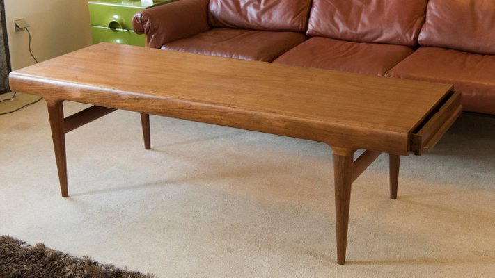 Beau Mid Century Extendable Coffee Table By Johannes Andersen For Silkeborg  Møbelfabrik 1