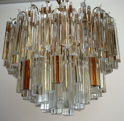 Mid century modern chandelier with clear and amber glass for sale at mid century modern chandelier with clear and amber glass 1 aloadofball Gallery