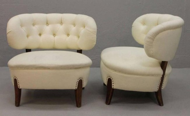 Vintage Lounge Chairs By Otto Schulz Set Of 2