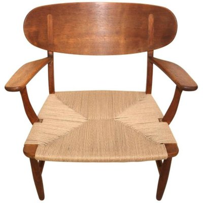 ch22 shell chair by hans wegner for carl hansen søn 1951 for sale
