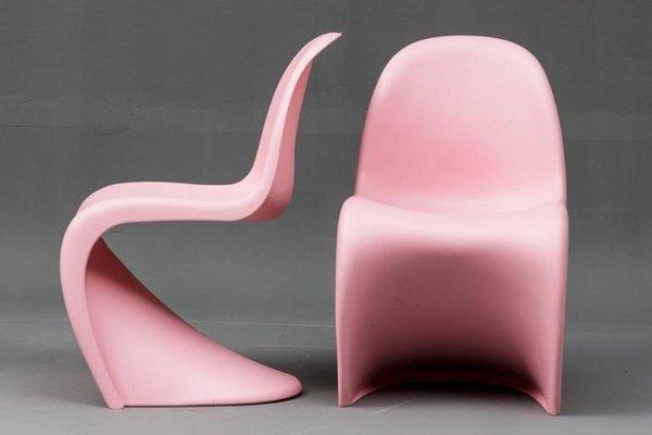 Sedia Pantone Rosa : Sedie s di verner panton per vitra 1958 set di 4 in vendita su pamono