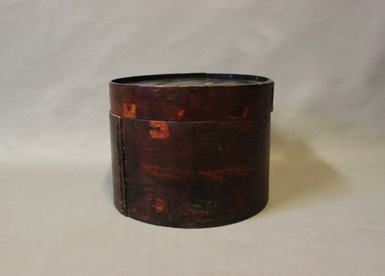 Chinese Hat Box In Wood 1930s