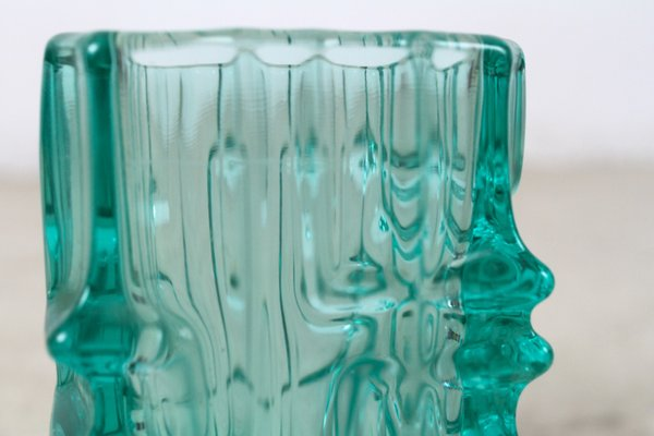 Vintage Green Glass Vase By Vladislav Urban For Sale At Pamono