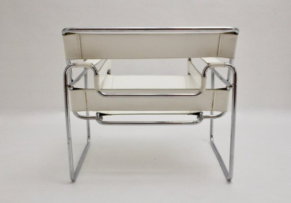 Vintage White Wassily Chair By Marcel Breuer 8