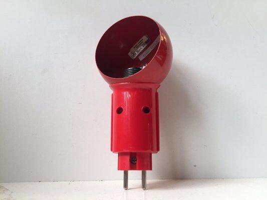 Applique robot rossa di bendt hansen per dl lampen anni in