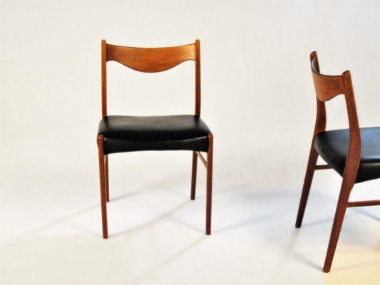 Stupendous Teak Dining Chairs By Ejnar Larsen Axel Bender Madsen For Glyngore Stolefabrik 1960S Set Of 2 Andrewgaddart Wooden Chair Designs For Living Room Andrewgaddartcom