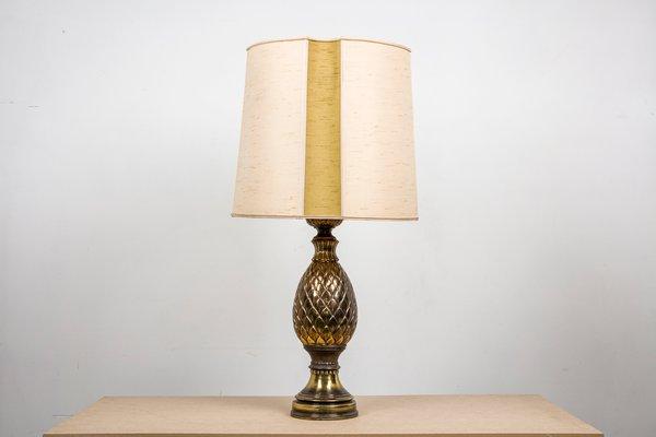 Lampe de bureau ananas en laiton de maison jansen s en vente