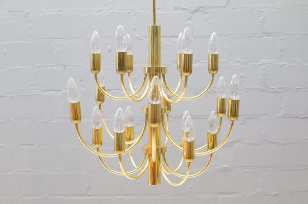 16 light golden chandelier 1960s for sale at pamono 16 light golden chandelier 1960s 1 aloadofball Images