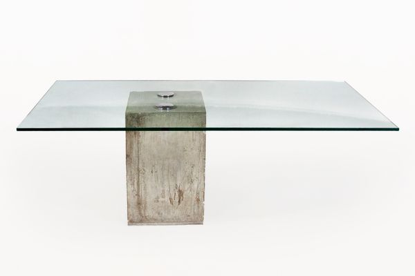 Glass And Concrete Dining Table By Sergio Giorgio Sporiti S - Concrete and glass coffee table