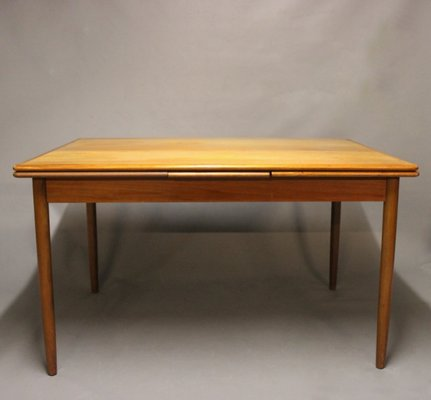 Teak Dining Table With Extensions 1960s
