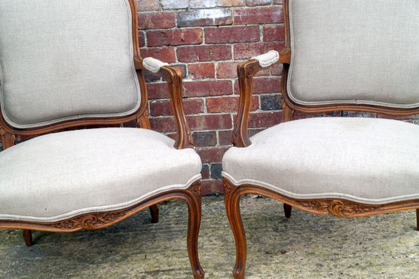 Antique French Salon Chairs, Set of 2 2 - Antique French Salon Chairs, Set Of 2 For Sale At Pamono
