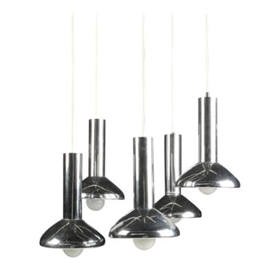 German mid century five light pendant lamp in chrome from hustadt german mid century five light pendant lamp in chrome from hustadt leuchten aloadofball Image collections
