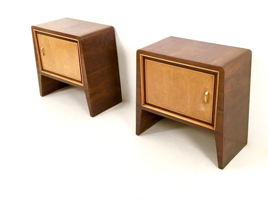 2 Chevet Placage d'Acajou par de Vintage de en UlrichSet Tables Guglielmo bYf6y7g