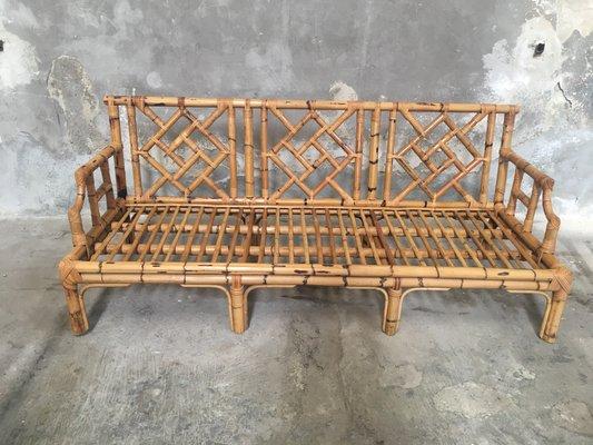 Rask Italienisches Bambus Sofa, 1960er bei Pamono kaufen RA-28