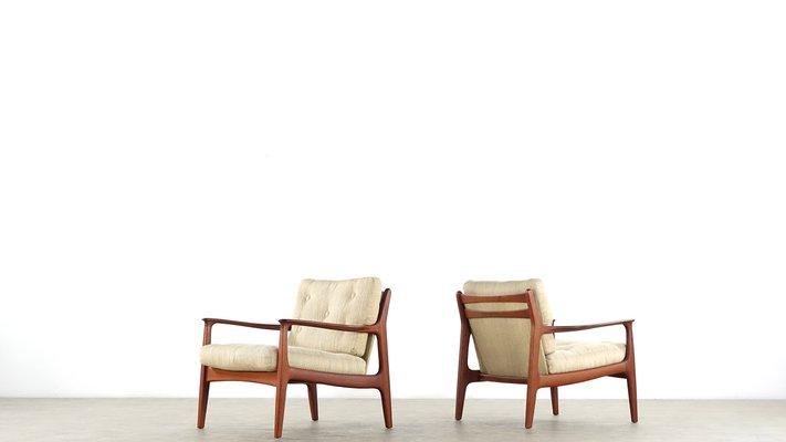 2 Moderne Fauteuils.Fauteuils Mid Century Moderne En Teck Par Eugen Schmidt Pour Soloform Set De 2