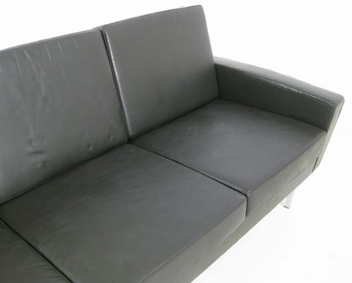 4 Seater Leather Sofa 1960s 7