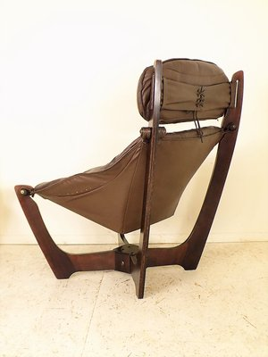Superb Vintage Luna Lounge Chair By Odd Knutsen For Hjellegjerde Ocoug Best Dining Table And Chair Ideas Images Ocougorg