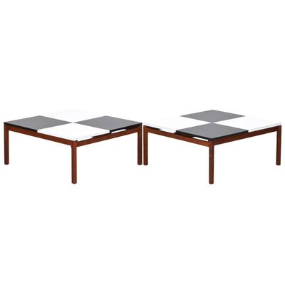 Vintage Black U0026 White Coffee Table By Louis Butler For Knoll International 1