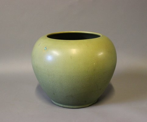 Mid Century Green Glaze Vase By Herman Khler For Sale At Pamono
