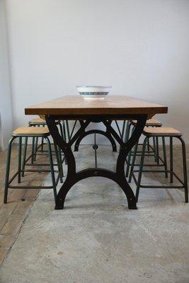 Mesa de comedor industrial vintage en venta en Pamono