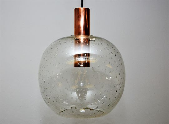 Vintage glass dome pendant on copper cylinder for sale at pamono vintage glass dome pendant on copper cylinder 1 aloadofball