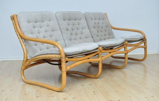Vintage Rattan Sofa, 1970s 2