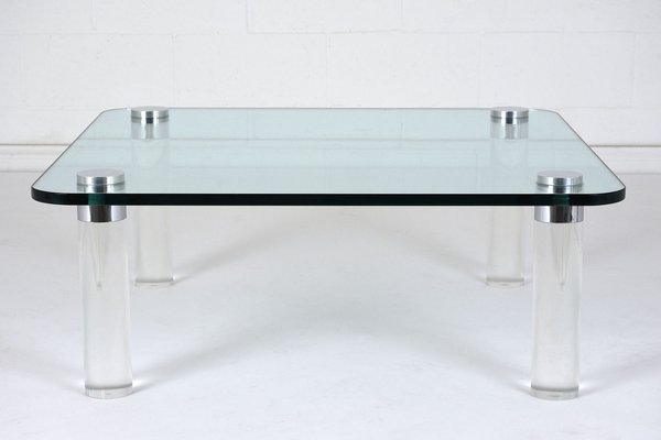 Lucite Coffee Table.Mid Century Modern Lucite Coffee Table