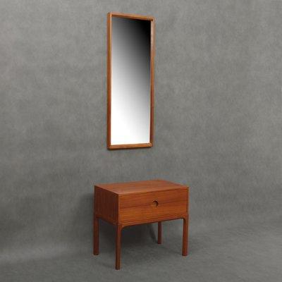 Specchio e mobiletto da ingresso in teak di Kai Kristiansen per Aksel  Kjersgaard, anni \'60