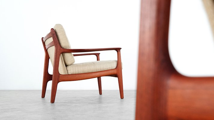 Mid Century Teak Lounge Chairs By Eugen Schmidt For Soloform For