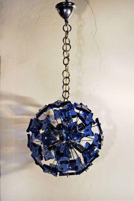 Blue Pendant Lamp 1970s