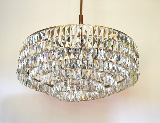 Large Drum Chandelier With 24 Lights From Bakalowits 1960s 2