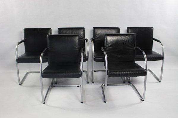Design Antonio Citterio.Vintage Leather Chair By Antonio Citterio For Vitra 2000