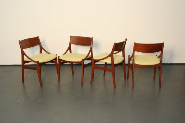brown dining chairs. Danish Dining Chairs In Teak By H. Vestervig Eriksen, Set Of 4 2 Brown O