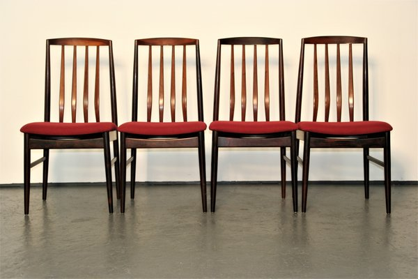 Danish Modern Rosewood Dining Chairs From Vamo Sønderborg Set Of 4