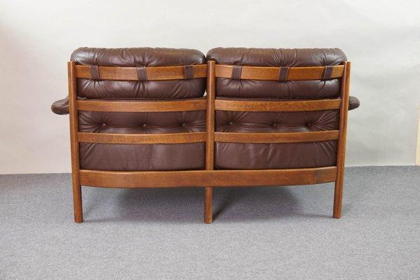 Vintage Tufted Leather Sofa