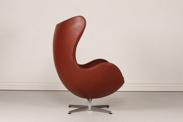 Egg Chair Cognac.3316 Cognac Leather Egg Chair By Arne Jacobsen For Fritz Hansen