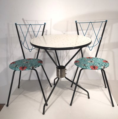 Superieur Vintage Dining Set With 1 Table And 2 Chairs 1