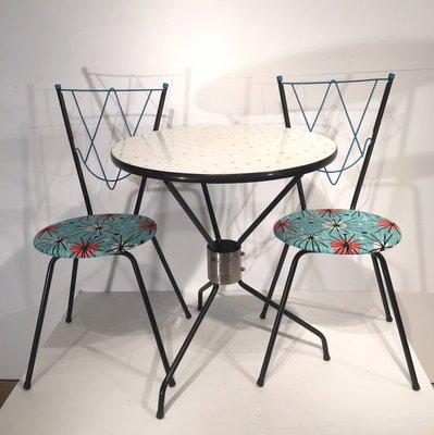 Vintage Esszimmerset Mit 1 Tisch Und 2 Stuhlen Bei Pamono Kaufen