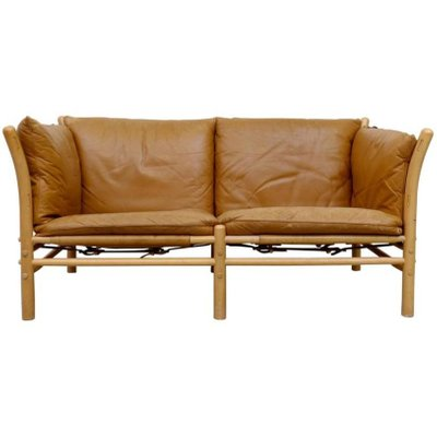 Ilona 2-Seater Leather Sofa by Arne Norell, 1960s for sale at Pamono