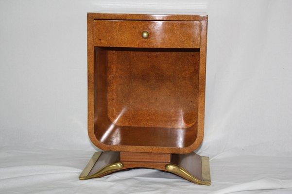 Vintage Art Deco Tisch Aus Bernsteingelbem Wurzelholz Bei Pamono Kaufen