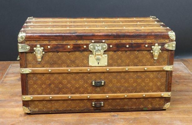 antique steamer trunk from louis vuitton 1901 1 - Storage Chest Trunk
