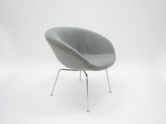 Danish Pot Chair By Arne Jacobsen For Fritz Hansen, 1950s 2