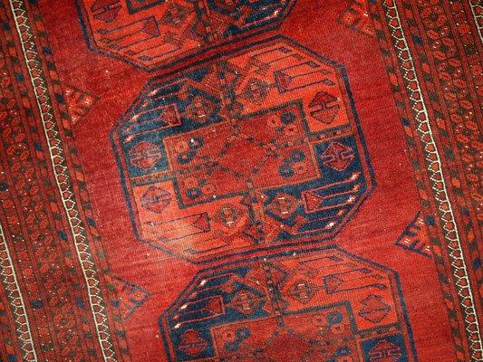 Alfombra Afghan Ersari vintage hecha a mano, años 50 en