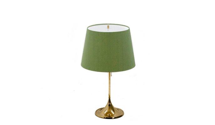 Lampada da tavolo B 024 Mid Century con paralume verde di Bergboms