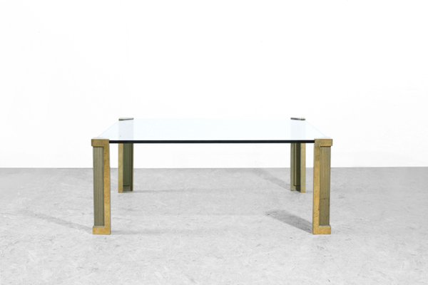 Bronze U0026 Glass Coffee Table By Peter Ghyczy, ...