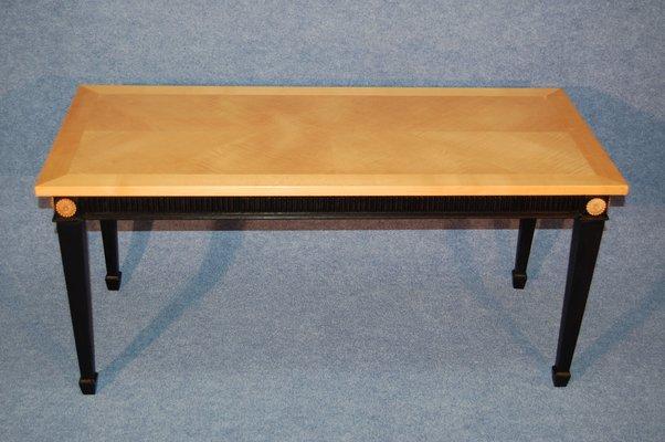 Table Basse En Sycomore Et Bois Noir 1940s En Vente Sur Pamono