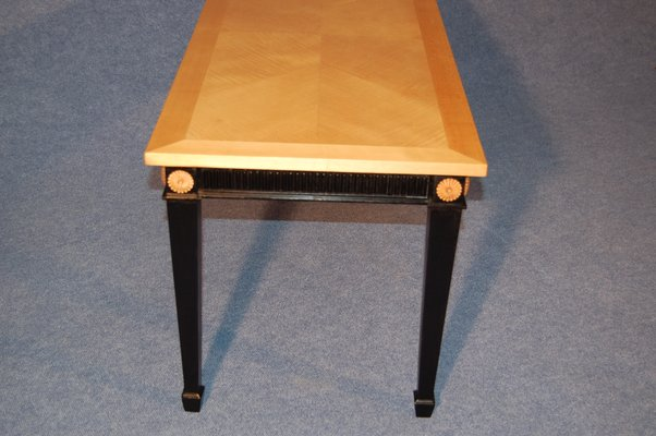 Coffee Table In Sycamore And Black Wood 1940s