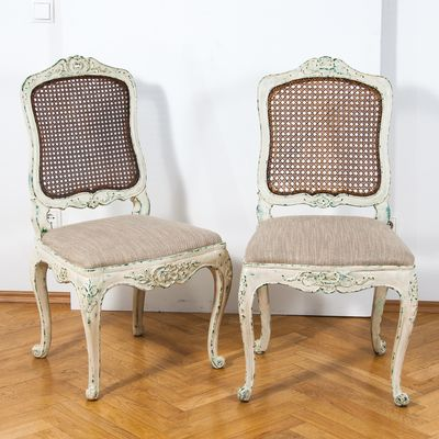 19th Century Louis XV Style Chairs, Set Of 2 1